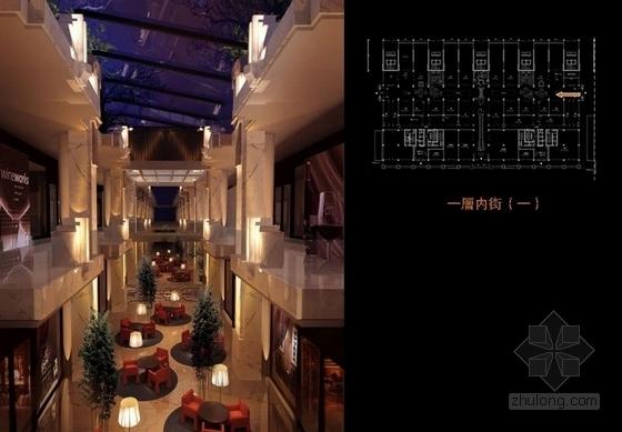 [山西]购物广场中心五星级综合型酒店设计方案内街效果图