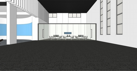 [天津]科技产业技术研究中心现代展厅设计方案临时办公区效果图