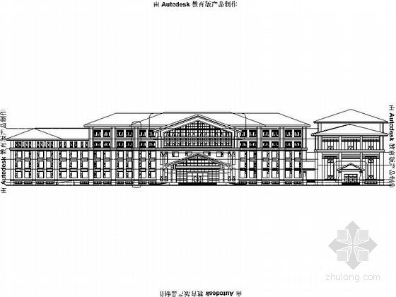 5层欧式风格度假酒店建筑设计施工图(含效果图)