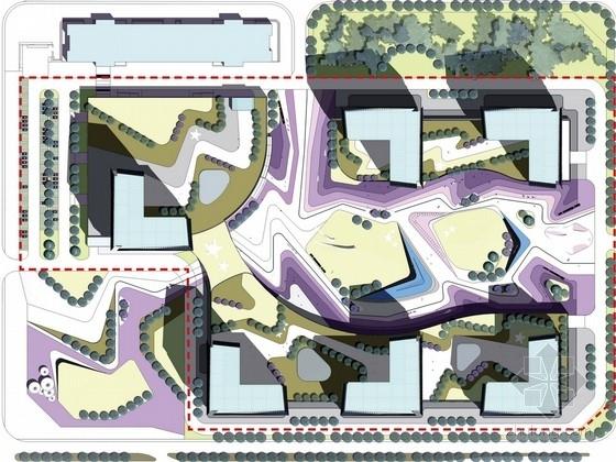 [北京]现代化环球科研办公楼景观设计方案(含屋顶花园)