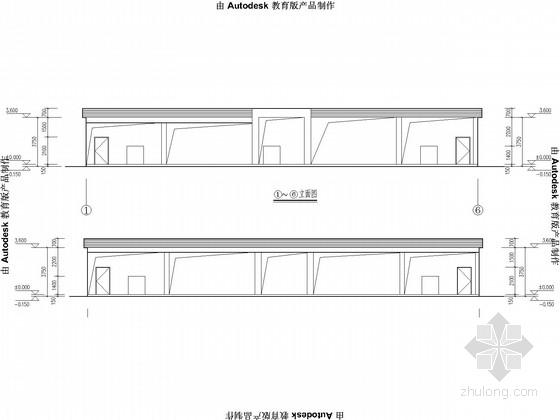 烟花爆竹抗暴间框架结构施工图(含建施)
