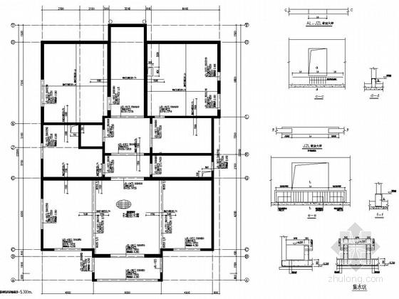 [河北]21种户型剪力墙结构旅游综合会所结构图(含异形柱及短肢墙)