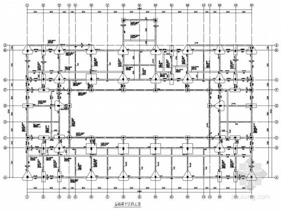 两层回字形框架结构对象楼结构施工图
