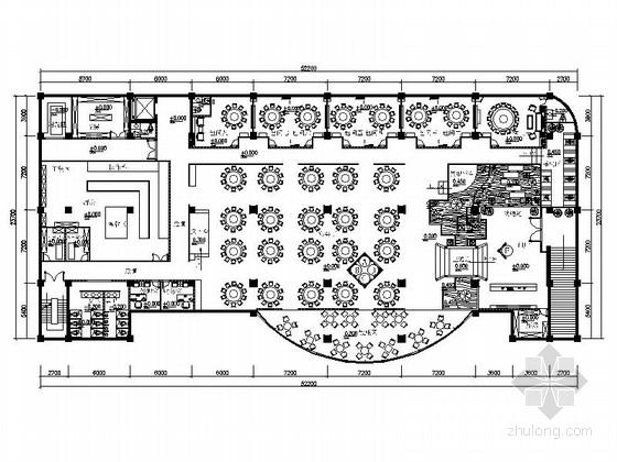 [原创]复古高档中式餐厅室内设计CAD施工图(含设计方案)
