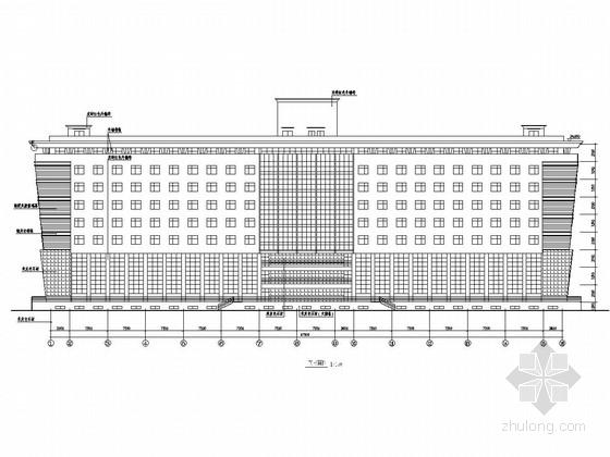 [西安]九层框架结构大学培训中心建筑结构施工图