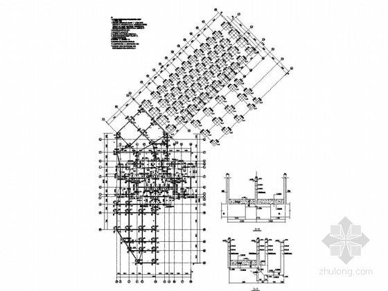 17层框架剪力墙结构商住楼结构施工图(含裙房)