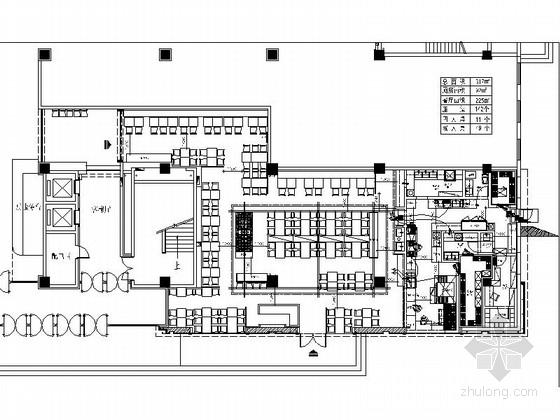 [山东]时尚现代风格比萨店室内装修施工图