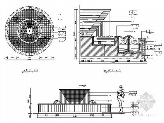 [瑞金]新亚洲别墅群高档售楼处室内装修施工图(含效果)大样图