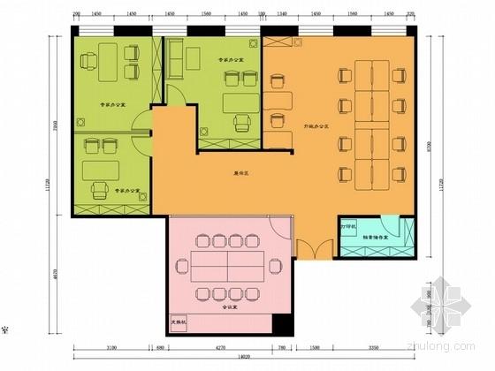 [北京]重点建筑工程企业高档办公室设计方案