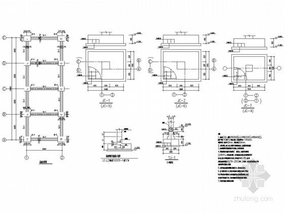 单层混合结构工业辅助用房结构施工图