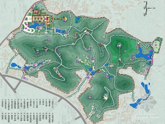 [广西]山城揽胜翡翠福地公园景观规划设计方案