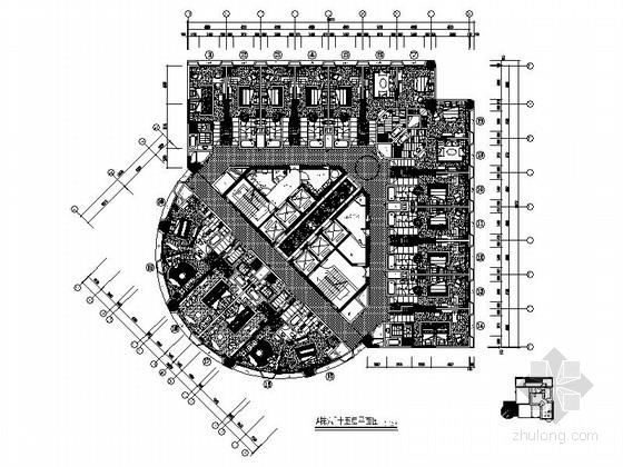 [广东]国际豪华现代风格五星级大酒店客房室内装修施工图(含效果图)