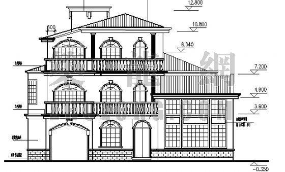 某三层砖混小别墅建筑结构施工图纸