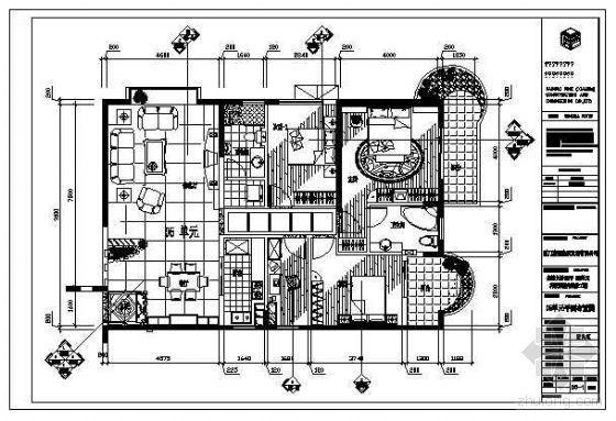 某样品房户型施工图