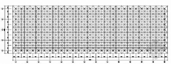 某单层工业厂房网架结构图纸