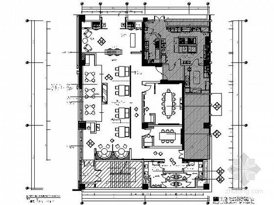 [宁波]酒店360平米西餐厅施工图