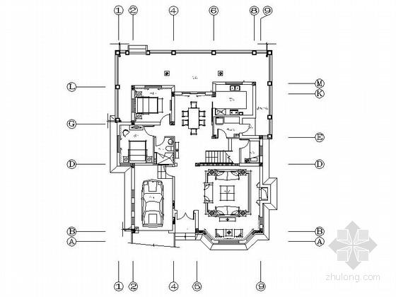 [武汉]临湖独栋双层别墅室内装修施工图