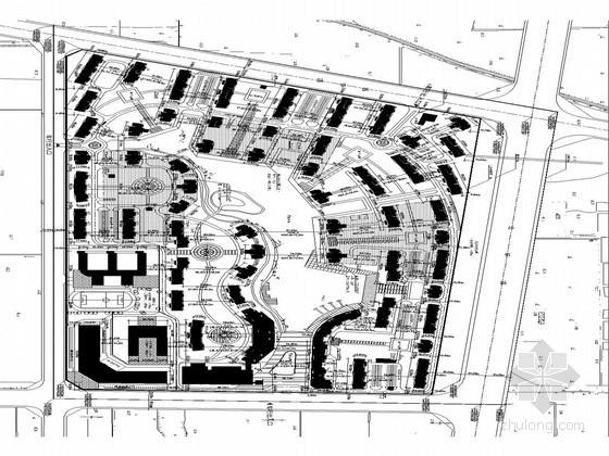 一张现代居住区平面施工图