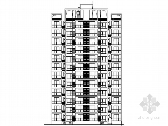 [陕西]现代风格高层住宅区建筑施工图(含效果图)