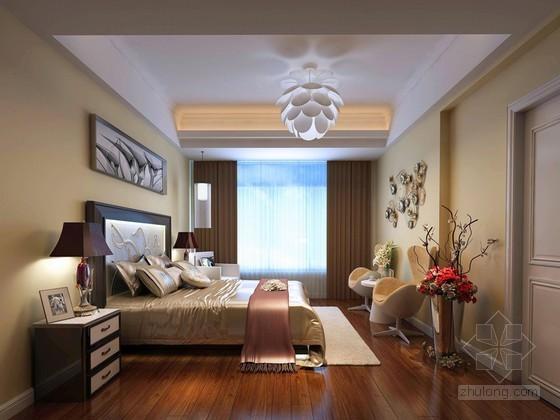 清新舒适卧室3D模型下载