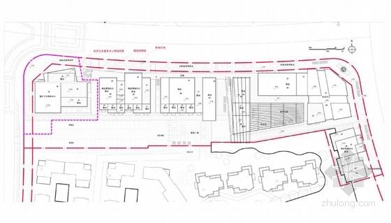 知名地产商业街规划总平面图图片
