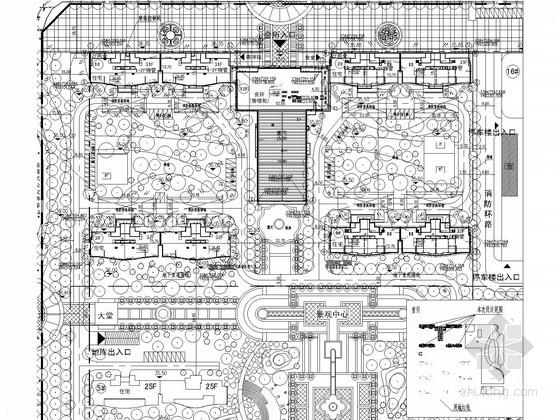 [江苏]地标建筑商业综合体住宅楼给排水施工图纸(含2栋楼)