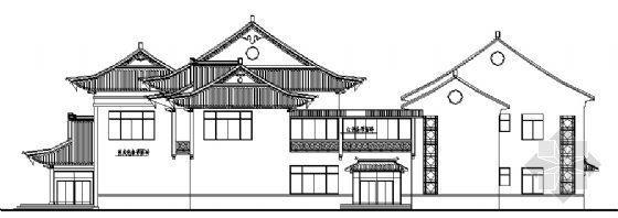 高速公路服务区建筑方案图