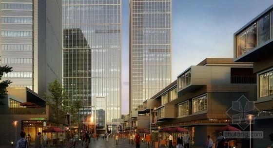 [江苏]精品复合型TBD城市空间景观规划设计方案-景观效果图