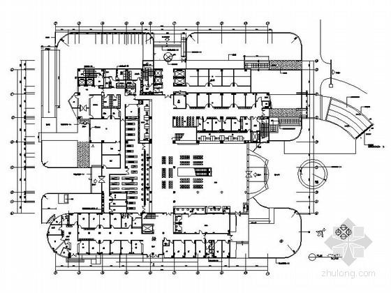[南京]现代风格典型花园式三级甲等医院门诊综合楼装修施工图