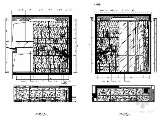 [福建]产权式时尚现代四层别墅样板房装修图会客厅立面图