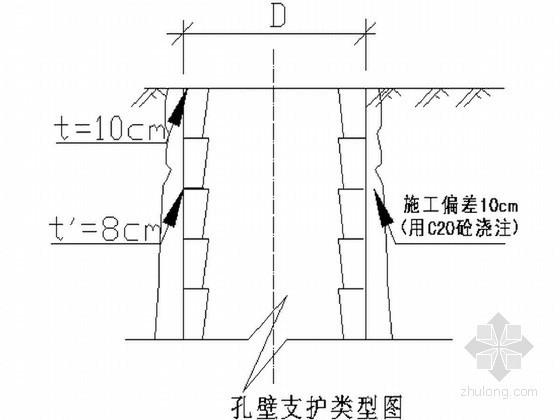 省道公路改扩建工程大桥人工挖孔桩基础施工方案