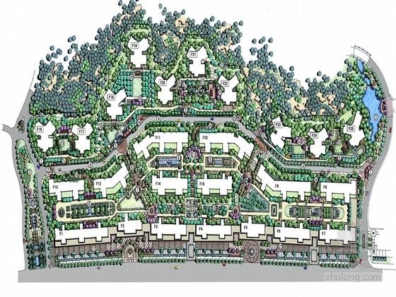 """[长沙]""""ART DECO""""建筑风格居住区景观规划设计方案"""