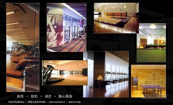 [黑龙江]富丽堂皇高档休闲会所设计方案健身房概念图