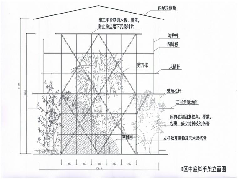 敦煌国际酒店1#楼D区满堂脚手架施工方案