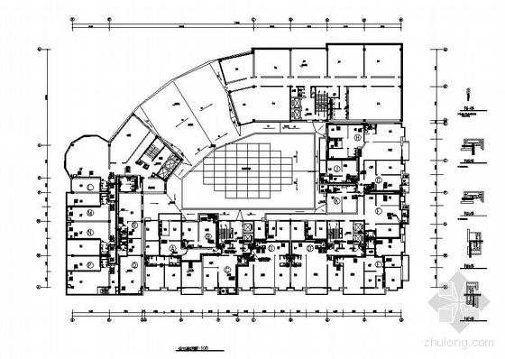 长春某广场二十八层综合功能大厦给排水消防图纸