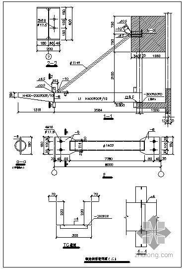某钢结构雨篷节点构造详图(二)
