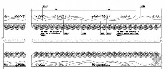 南方某城区道路绿化设计图