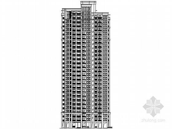 [镇江]某二十八层一梯三住宅楼建筑施工图