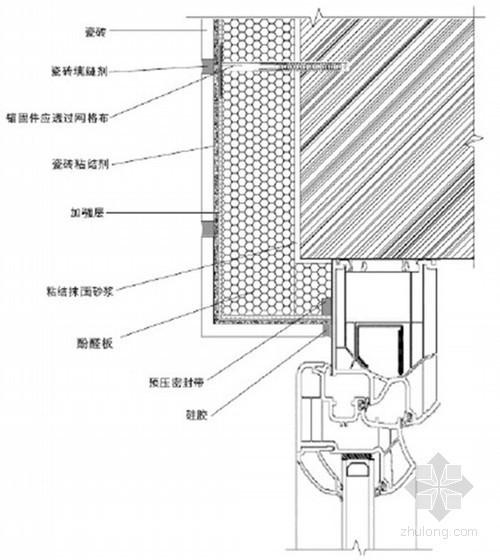 建筑工程防火酚醛板外墙外保温系统施工方案(节点构造图)