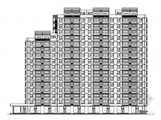 [山西晋城]十六层高层商业住宅楼(15号)建筑施工图(2011年新作)