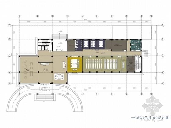 [珠海]燃气能源站现代办公楼室内设计方案图