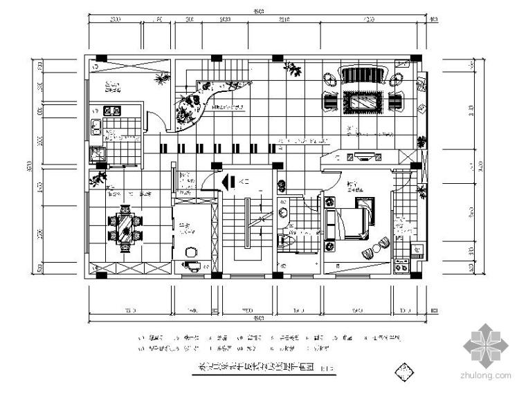[福建]某复式套房室内装修图
