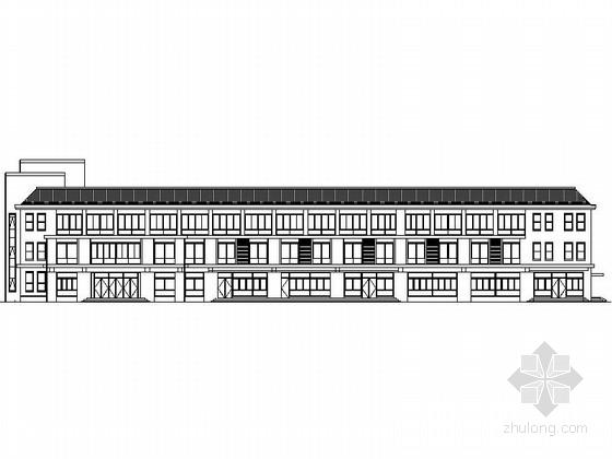 [德州]某社会福利中心三层商住楼建筑扩初图