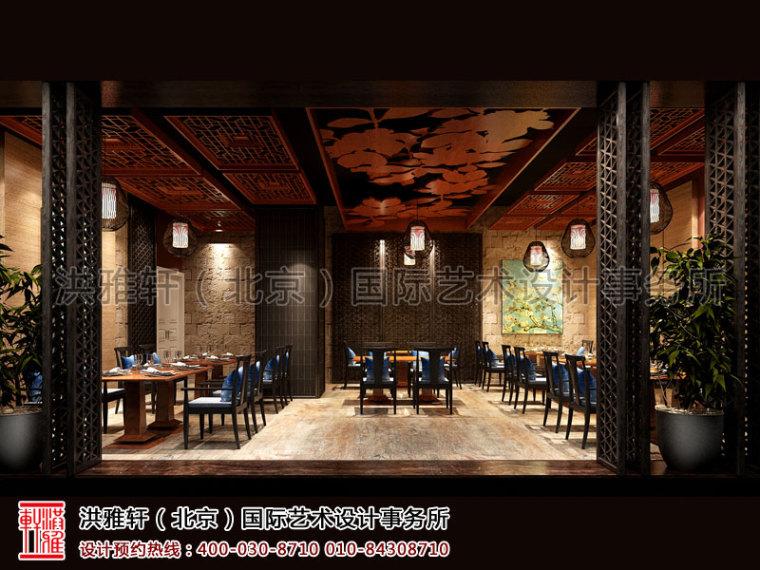 北京长楹天街新中式餐厅装修_5