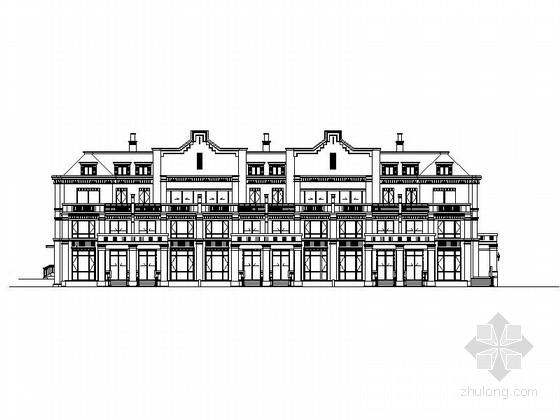 多层高档英式风格联排别墅设计方案图(知名设计院)