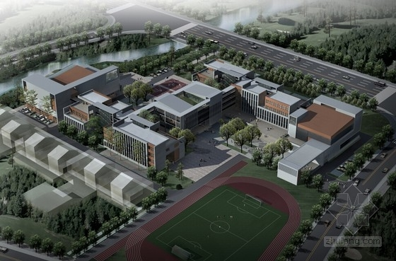 [上海]九年一贯制音乐学校规划及建筑设计方案文本