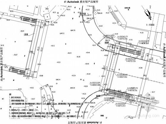 钢桁架结构人行天桥施工图29张