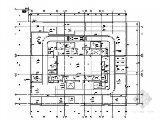 [四川]160米独栋现代风格住宅楼设计施工图(知名建筑设计院)-160米独栋现代风格住宅楼平面图