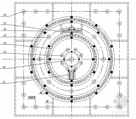 旱喷泉水池建筑结构施工图