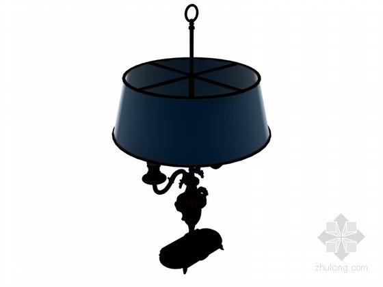 现代复古台灯3D模型下载
